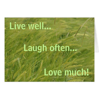 live well... greeting card