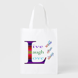 Live Well, Laugh Often, Love Always Grocery Bag