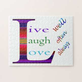 Live Well, Laugh Often, Love Always Puzzles