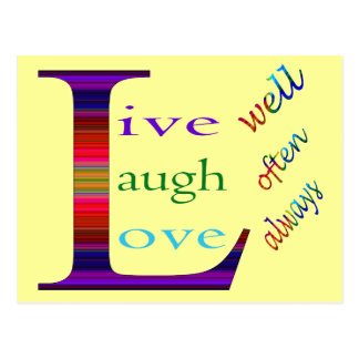 Live Well, Laugh Often, Love Always STaylor Postcard