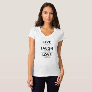 LIVE well LAUGH often LOVE much girls Shirt