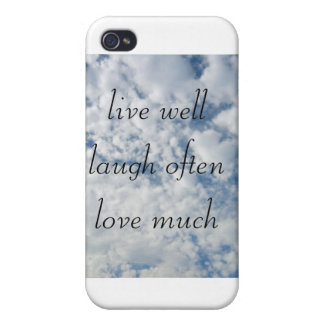 live well laugh often love much iPhone 4 case