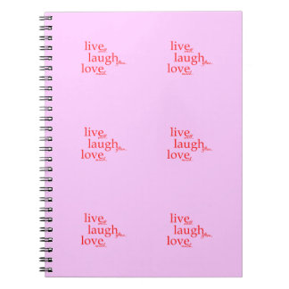 LIVE WELL LAUGH OFTEN LOVE MUCH MOTTOS QUOTES COMM SPIRAL NOTEBOOK