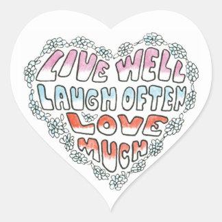 Live Well Laugh Often Sticker
