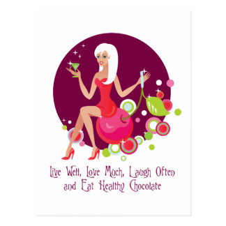 Live Well, Love Much Postcard