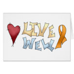 Live Well- Orange Awareness Ribbon Card