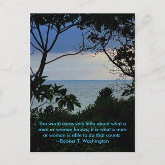 Live well postcard