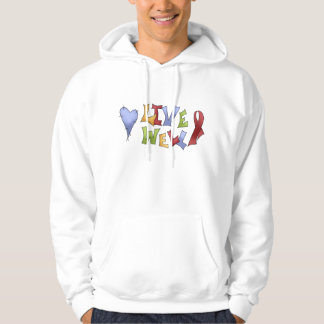 Live Well- Red Awareness Ribbon Hoodie