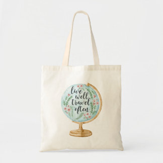 Live Well, Travel Often Tote Bag