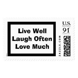 Live WellLaugh Often Love Much Postage