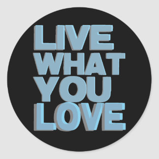 Live What You Love Gifts Classic Round Sticker