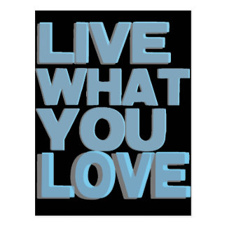 Live What You Love Gifts Postcard