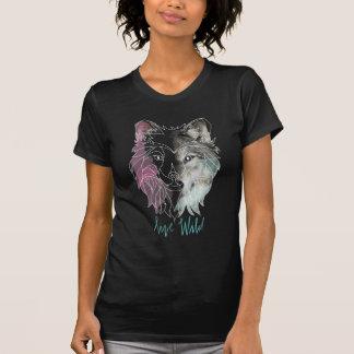 """""""Live Wild"""" Wolf Spirit Animal T-shirt"""