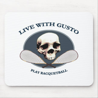 Live With Gusto Racquetball Mouse Mats