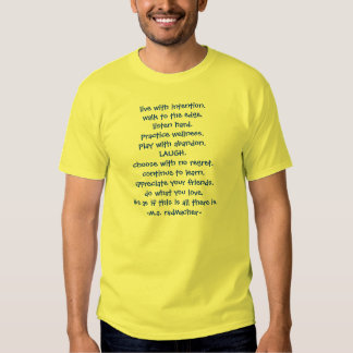 live with intention.walk to the ed... - Customized T Shirt