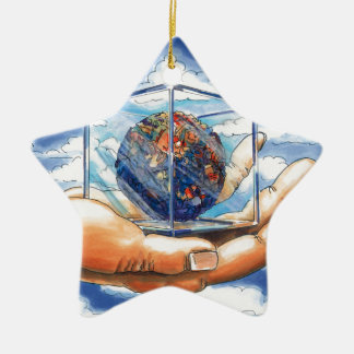 LIVE WITH MY HEART - WOWCOCO CERAMIC ORNAMENT