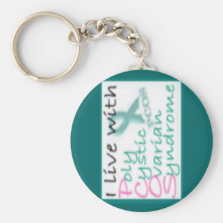 Live with PCOS Keychain