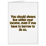 Live Within Your Income Card