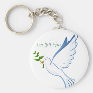 Live Yell Free Basic Round Button Keychain