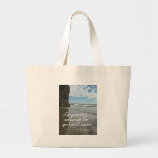 Live your beliefs and you can turn the world... bag