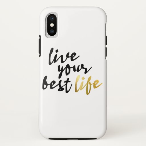 Live Your Best Life Typography iPhone XS Case