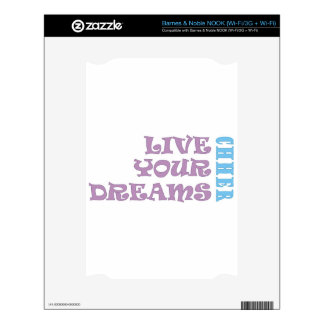 Live Your Cheer Dreams Decal For NOOK