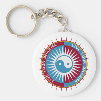 Live Your Dharma Basic Round Button Keychain