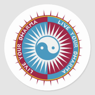 Live Your Dharma Classic Round Sticker