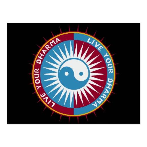 Live Your Dharma Postcard