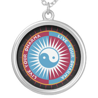 Live Your Dharma Round Pendant Necklace