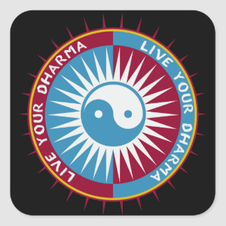 Live Your Dharma Square Sticker
