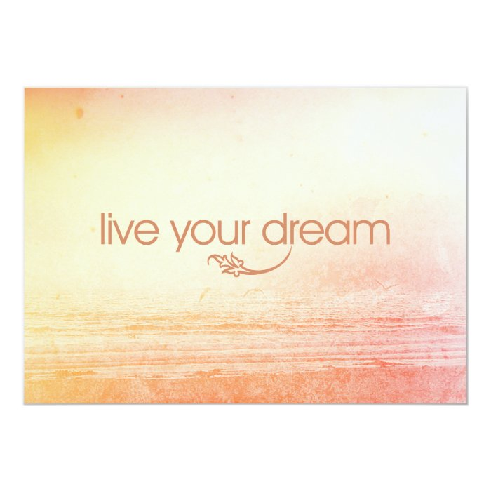 Live Your Dream Card