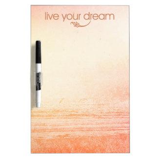 Live Your Dream Dry Erase Board