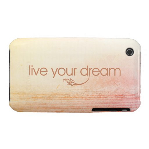 Live Your Dream iPhone 3 Cases