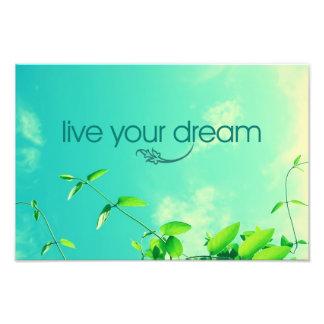 Live Your Dream Vibrant Sky Art Photo