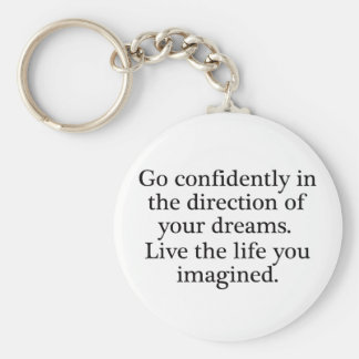 Live Your Dreams Basic Round Button Keychain