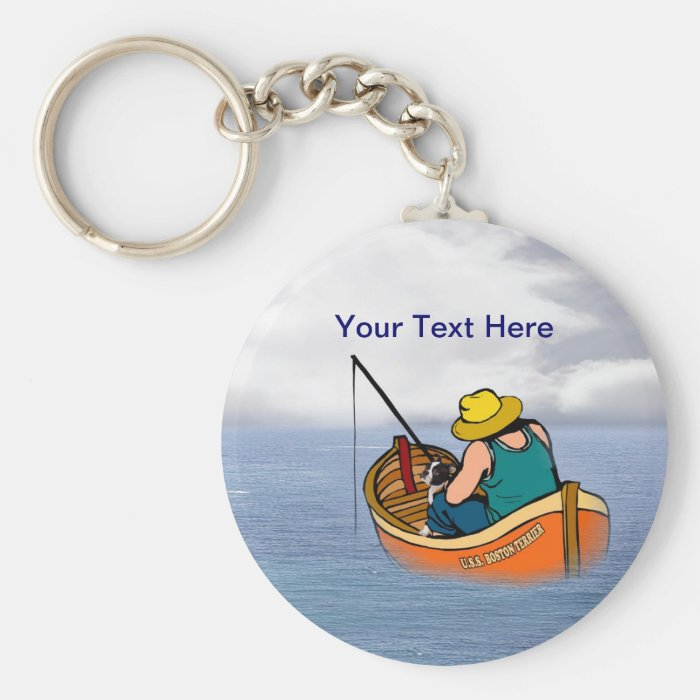 Live your Dreams Boston Terrier - Customize It! Keychain