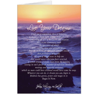 Live Your Dreams CARD