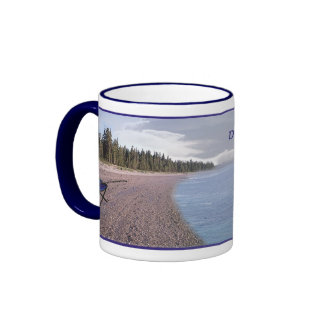 Live your Dreams Coffee Mug Black Lab Back View