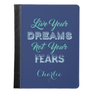 Live Your Dreams custom name & color device cases