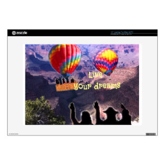 """Live your dreams decal for 15"""" laptop"""