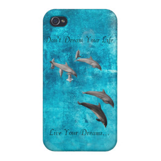 Live Your Dreams Dolphins iphone4 shell iPhone 4 Case