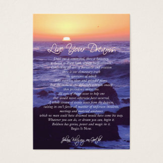 Live Your Dreams INSPIRATIONAL CARDS
