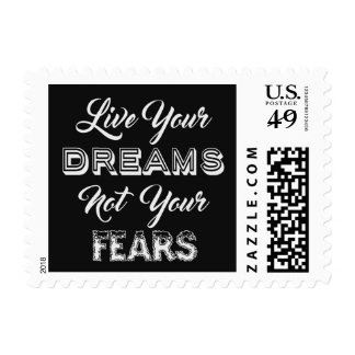 Live Your Dreams postage stamps