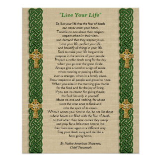 Live Your Life by Chief Tecumseh Print