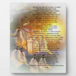 Live your life, Chief Tecumseh dreamcatcher Plaque