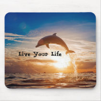 Live Your Life Motivation Mouse Pad