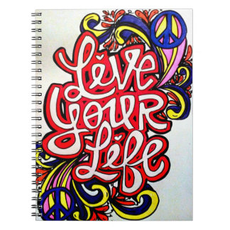 Live your life spiral bound notebook
