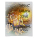 """""""Live your life"""" Tecumseh Dreamcatcher sunset Posters"""