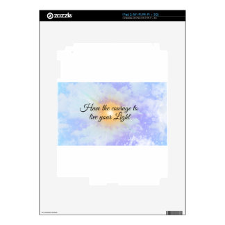 live your light iPad 2 decal